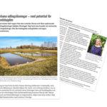 Veg Techs växtsystem för ängar och våtmarker har stor potential hos lantbruksföretag.