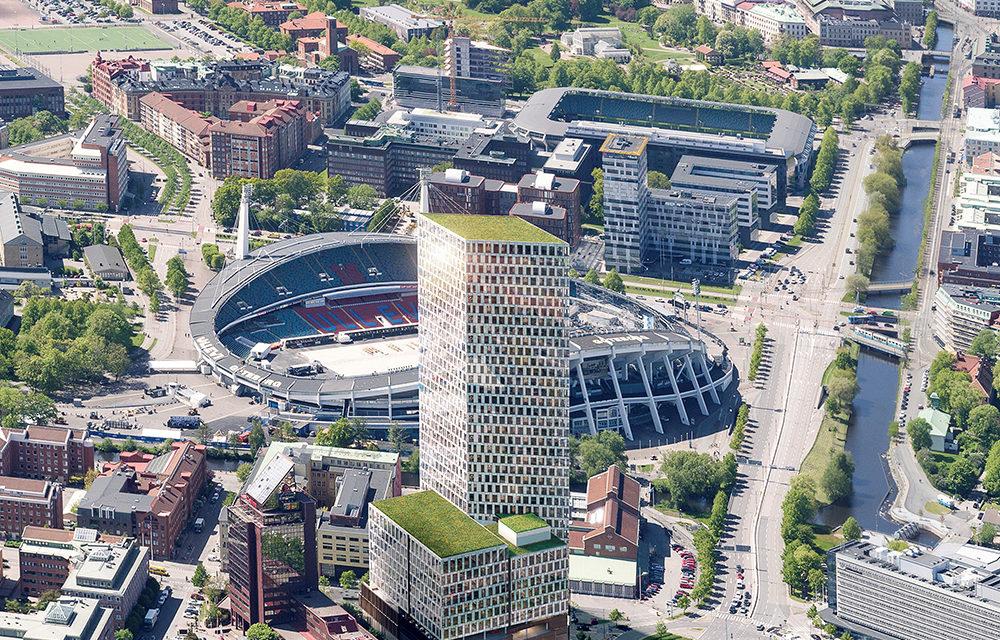 Gröna tak på Nordens högsta kontorsbyggnad